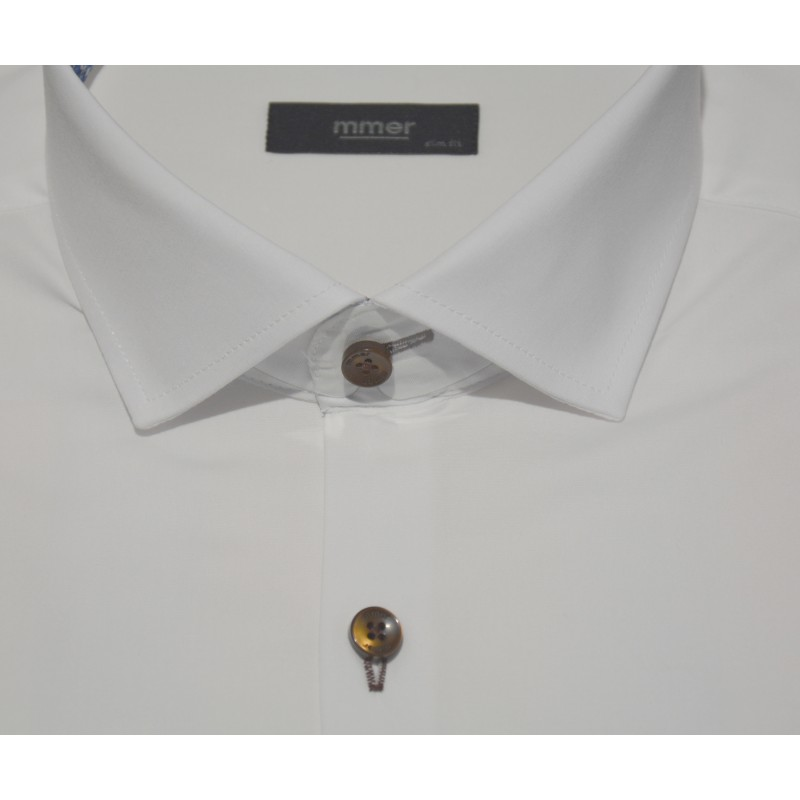 Koszula męska 31/28, niebieska, długi rękaw, gładka, SLIM FIT (by Pako Lorente)